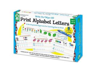Write On/Wipe Off Print Alphabet Letters Activity Set, Ages 4 and Up