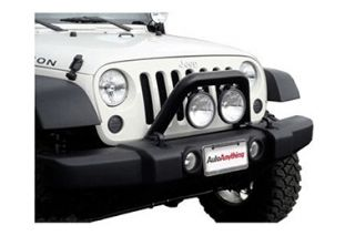 2012 2016 Jeep Wrangler Light Mounts & Wiring   MBRP 130716/132032   MBRP Front Light Bar & Grille Guard