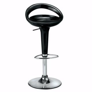 Home Decorators Collection Ventura Black Open Back Adjustable Swivel Stool 7787500210