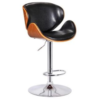 Boraam Black Osa Adjustable Swivel Stool 99530
