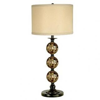 Dale Tiffany Mosaic 3 Ball Art Glass Table Lamp   Home   Home Decor