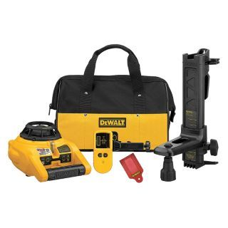 DEWALT Electronic Self Leveling Rotary Laser Level, Horizontal and Vertical, Interior and Exterior   Rotary and Straight Line Laser Levels   31CN26|DW074KD