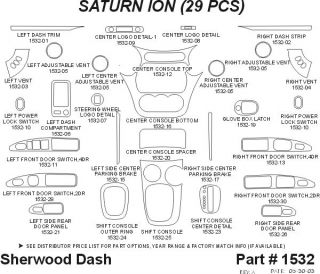 2003, 2004, 2005 Saturn Ion Wood Dash Kits   Sherwood Innovations 1532 N50   Sherwood Innovations Dash Kits