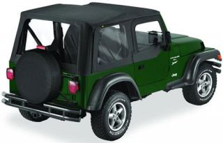 Bestop   Bestop Replace A Top Soft Top (Black Diamond) with Clear Windows 51127 35   Fits 2003 to 2006 TJ Wrangler