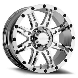 Pro Comp Alloy Wheels   Series 6631, 20x9 with 8 on 170 Bolt Pattern   Chrome