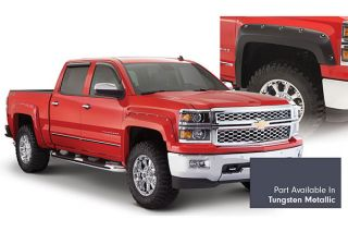 2014, 2015 Chevy Silverado Pocket Style Fender Flares   Bushwacker 40959 64   Bushwacker Color Match Pocket Style Fender Flares