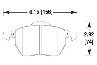 Hawk HB272Z.763A   Front Pads   Full Set   Brake Pads