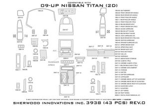 2010, 2011, 2012 Nissan Titan Wood Dash Kits   Sherwood Innovations 3938 R   Sherwood Innovations Dash Kits