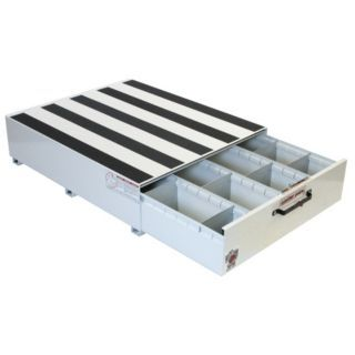"WEATHER GUARD White Truck or Van Storage Drawer, Steel, 39 5/8"" Width, 48"" Depth, Number of Drawers: 1   Truck Storage Units   13R550