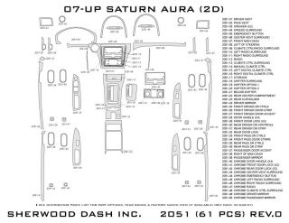 2007 Saturn Aura Wood Dash Kits   Sherwood Innovations 2051 CF   Sherwood Innovations Dash Kits