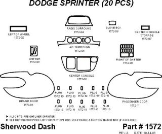 2003 2006 Dodge Sprinter Wood Dash Kits   Sherwood Innovations 1572 CF   Sherwood Innovations Dash Kits