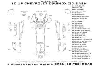 2010 2013 Chevy Equinox Wood Dash Kits   Sherwood Innovations 3956 R   Sherwood Innovations Dash Kits