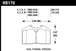 Hawk HB170U.710   DTC 70 Rear Pads   Full Set   Brake Pads