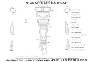 2013 Nissan Sentra Wood Dash Kits   Sherwood Innovations 4701 EN   Sherwood Innovations Dash Kits