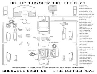 2008, 2009, 2010 Chrysler 300 Wood Dash Kits   Sherwood Innovations 2133 N50   Sherwood Innovations Dash Kits