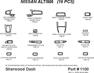 1998 2001 Nissan Altima Wood Dash Kits   Sherwood Innovations 1100 N50   Sherwood Innovations Dash Kits