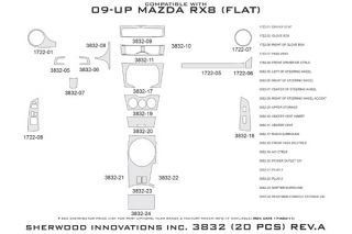 2009 2012 Mazda RX 8 Wood Dash Kits   Sherwood Innovations 3832 R   Sherwood Innovations Dash Kits