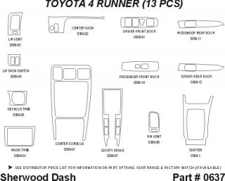 1998 Toyota 4Runner Wood Dash Kits   Sherwood Innovations 0637 CF   Sherwood Innovations Dash Kits