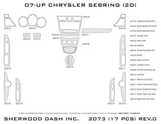 2007 2010 Chrysler Sebring Wood Dash Kits   Sherwood Innovations 2073 N50   Sherwood Innovations Dash Kits