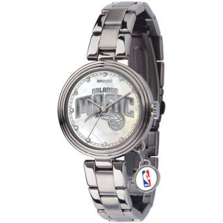 Orlando Magic Womens Charm Stainless Steel Watch