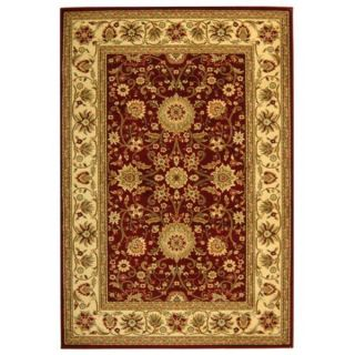 Safavieh Lyndhurst Collection Majestic Maroon/Ivory Rug (8 x 11)