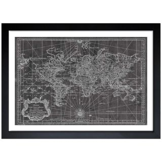 Oliver Gal World Map 1778 Framed Art Print   15958141
