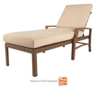 Hampton Bay Tobago Patio Chaise Lounge with Cushion Insert (Slipcovers Sold Separately) 151 101 CL NF