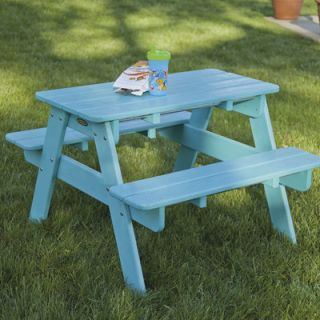 POLYWOOD® Kids Slate Grey Picnic Table