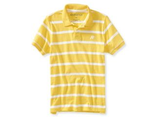 Aeropostale Mens A87 Striped Rugby Polo Shirt 679 L