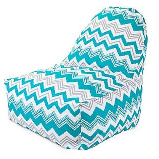 Majestic Home Goods Indoor/Outdoor Zazzle Polyester Kick It Bean Bag Chair, Pacific