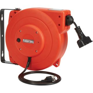 Ironton Retractable Cord Reel — 33ft., 16/3, Triple Tap  Cord Reels