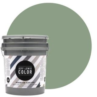 Jeff Lewis Color 5 gal. #JLC510 Dirty Martini Semi Gloss Ultra Low VOC Interior Paint 505510