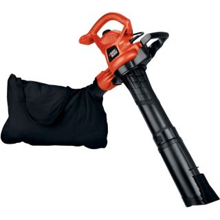 BLACK & DECKER 12 Amp 250 MPH Medium Duty Corded Electric Leaf Blower with Vacuum Kit