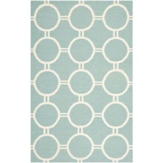 Safavieh Dhurries Light Blue/Ivory 9 ft. x 12 ft. Area Rug DHU636C 9