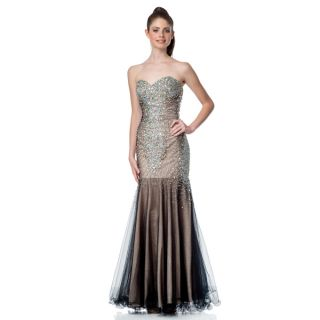 Terani Couture Womens Strapless Trumpet Prom Gown   18308327