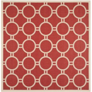 Safavieh Indoor/ Outdoor Courtyard Rectangular Red/ Bone Rug (710
