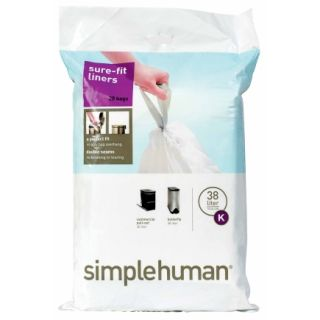 simplehuman® 10.5 Gal Trash Can Liners (CW0171)   Trash Bags & Holders