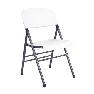 Molded Commercial White Folding Chairs (Pack of 4)