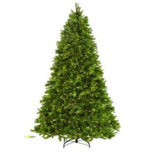Martha Stewart Living 7.5 ft. Indoor Pre Lit LED Downswept Douglas Fir Artificial Christmas Tree 9315300610