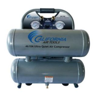 California Air Tools 4.6 Gal. 1 HP Ultra Quiet and Oil Free Aluminum Twin Tank Air Compressor CAT 4610A