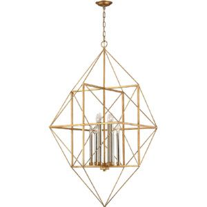 Dimond Lighting DMD 1141 006 Connexions Antique Gold Leaf/Silver Leaf  Pendants Lighting