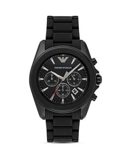 Emporio Armani Black Stainless Steel Bracelet Watch, 44mm