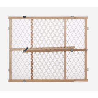 North States Industries, Inc. 42 in x 23 in Natural Wood Child Safety Gate