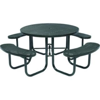 Tradewinds Park 46 in. Black Commercial Round Picnic Table HD D051GS BK