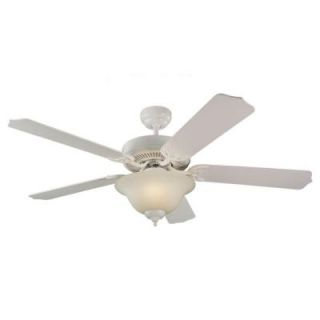 Sea Gull Lighting Quality Max Plus 52 in. White Indoor Ceiling Fan 15030BLE 15