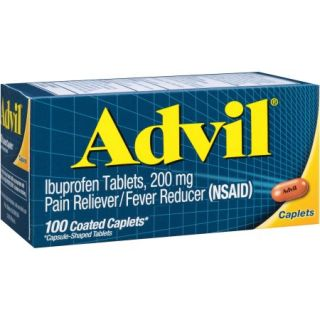 Advil Pain Reliever / Fever Reducer (Ibuprofen), 200 mg 100 count