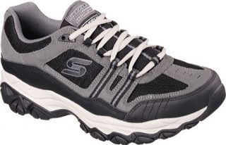 Mens Skechers After Burn Memory Fit Strike Off Sneaker   Charcoal/Black
