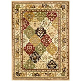 Safavieh Lyndhurst Multicolor and Black Rectangular Indoor Machine Made Area Rug (Common 9 x 12; Actual 107 in W x 144 in L x 0.67 ft Dia)