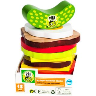 PBS Kids Wooden Toy Sandwich Stacker   17169897