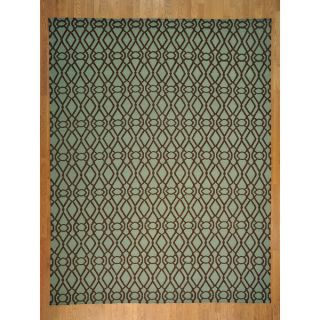 Light Green Durie Kilim Flat Oriental Rug (93 x 12)   16739619